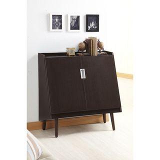 Trapezy Walnut Multi-purpose Storage Cabinet | Overstock.com Shopping - The Best Deals on Media/Bookshelves