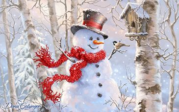 DG-8379 Birch Forest Snowman