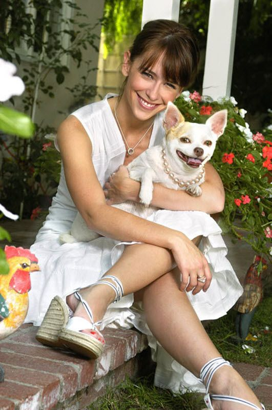 "Jennifer Love-Hewitt (The Client List) and her dog ""Charlie""."