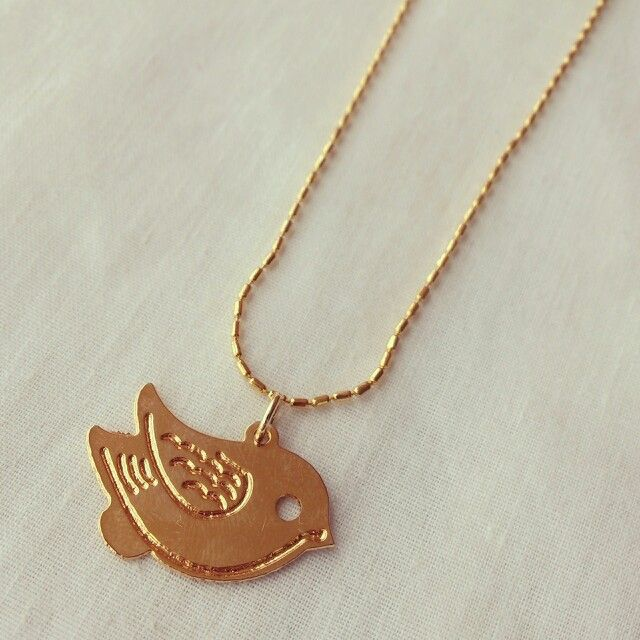 Bird necklace. 18k gold