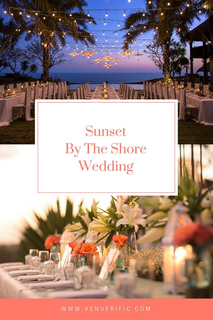 Gorgeous wedding destination at Indonesia. The evening glow with candlelight dinner with your guest make your wedding a mesmerising dream come true at Tirtha Bridal. Book at www.venuerific.com