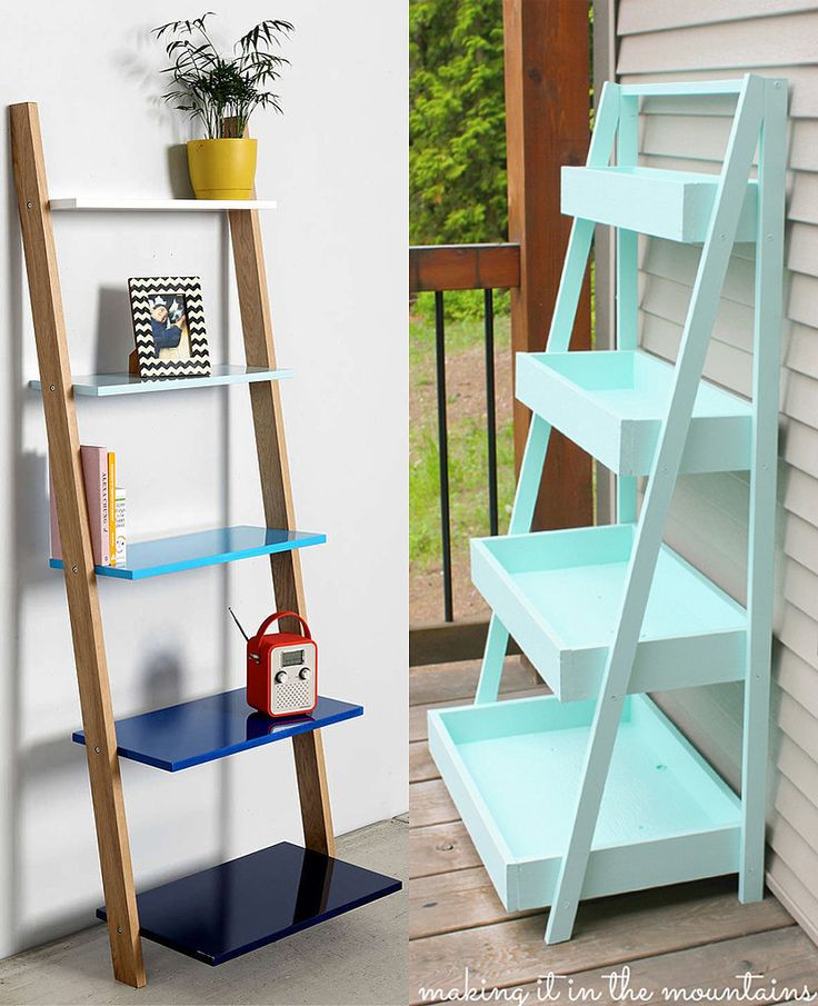 You can create your own ladder-style shelving for far less than the Urban Outfitters cost and choose your own colors!