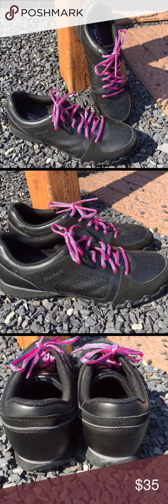 Skechers Relaxed Fit Memory Foam Sneakers Size 9.5 Size 9.5. Never worn. Be sure to view the other items in our closet. We offer both women's and Mens items in a variety of sizes. Bundle and save!! Thank you for viewing our item!! Skechers Shoes Sneakers