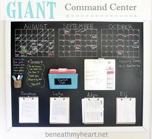 Giant Wall Command Center {for my office} | Beneath My Heart