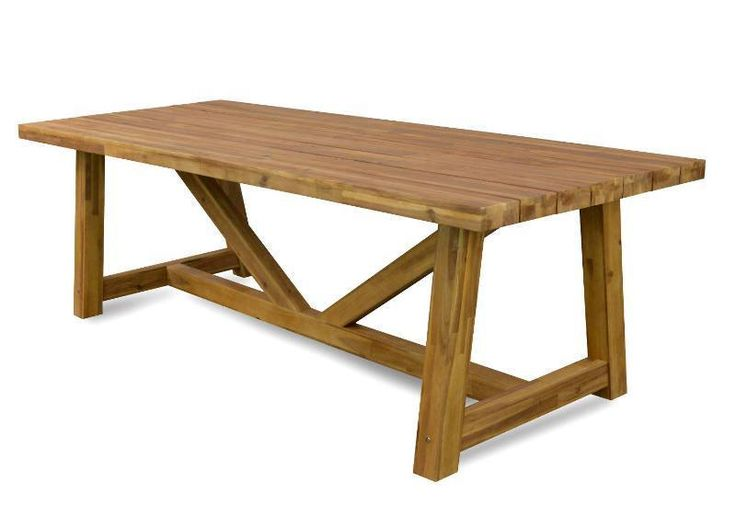 Interior Secrets Dixon Outdoor acacia wood Dining Table in Home & Garden, Furniture, Tables | eBay!