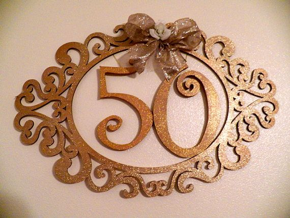 50th Wedding Anniversary Decorative Frame Gift by SouthernSassHD, $64.99