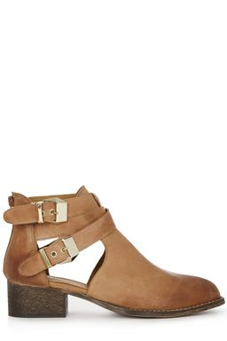 This pair of cut out ankle boots features straps with pin buckle detailing, a round toe and low heel. All sizes are EU sizes. See size guide for conversions.Fabric:Main: 100.0% Leather.Wash care:Do Not CleanProduct code: 02312211 £65.00
