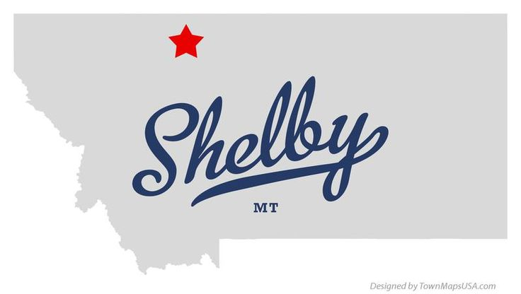 Map of Shelby Montana MT