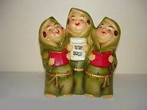 Amazon.com - Vintage K.N. Japan Ceramic Singing Monk Trio Christmas