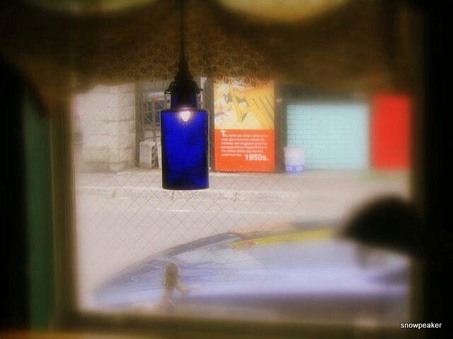 アンティークのランプ