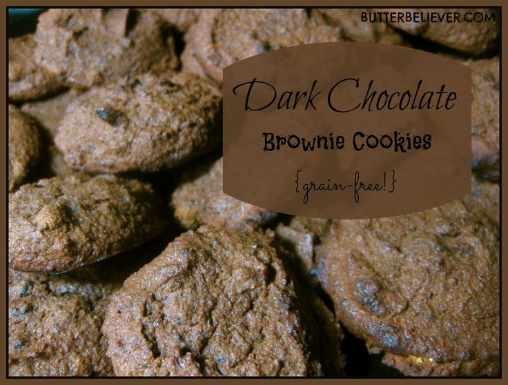 Dark chocolate brownie cookies. Grain-free, sugar-free!