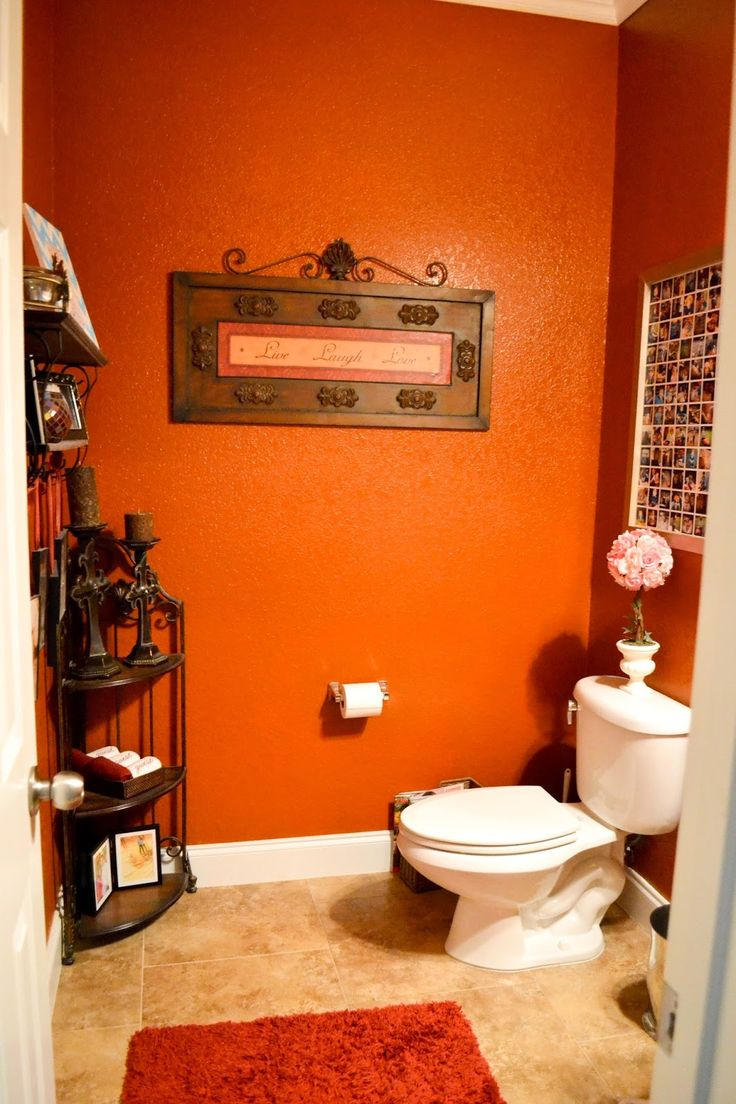 Best Burnt Orange Bathrooms Ideas On Pinterest Burnt Orange - Burnt orange bathroom rugs for bathroom decor ideas