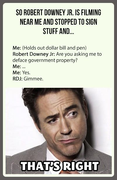 This is why I love Robert Downey Jr.