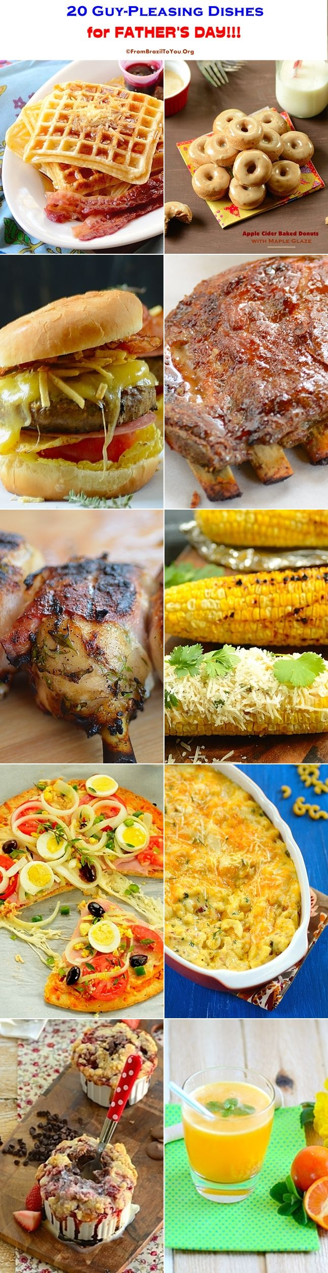 20 GUY-PLEASING DISHES FOR FATHER'S DAY!!! All that a man could crave!!! #dishes #recipes #father'sday