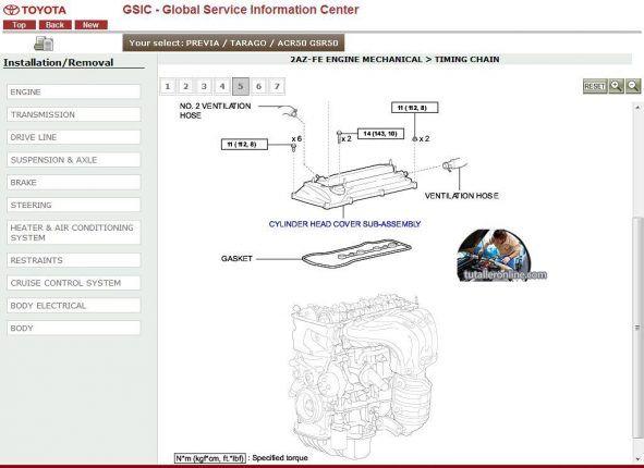 Manual de taller y reparacion toyota previa 2007-2010 en