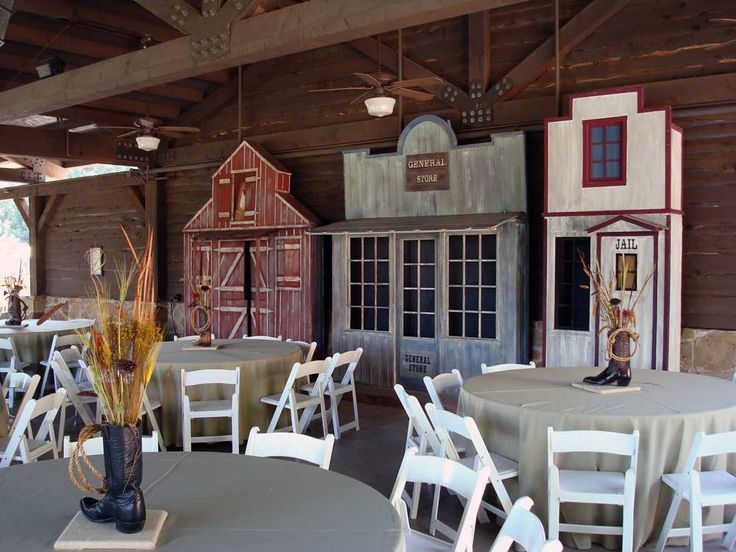 Country Western Farm Rustic Town Theme Backdrops Strong