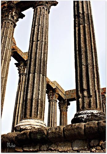 Roman temple, Évora, #Portugal