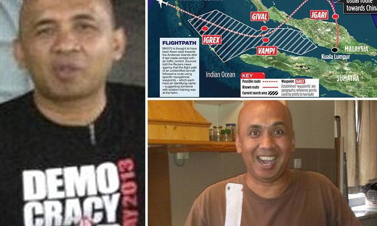 Missing airliner pilot pictured wearing political slogan T-shirt #DailyMail