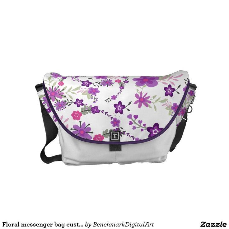 Floral messenger bag custom colour new spring 2016