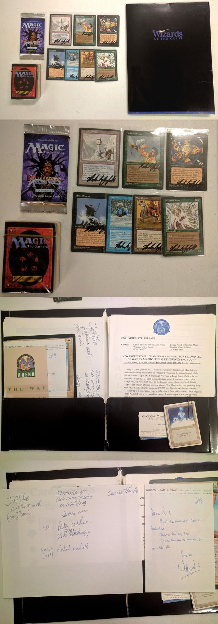 Other MTG Items 218: 1996 Wizard Of The Coast Press Kit Mtg Magic The Gathering Richard Garfield Rare -> BUY IT NOW ONLY: $349.99 on eBay!