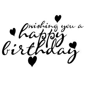 happy birthday text black png | Happy Birthday | Freebies | Digital Scrapbooking