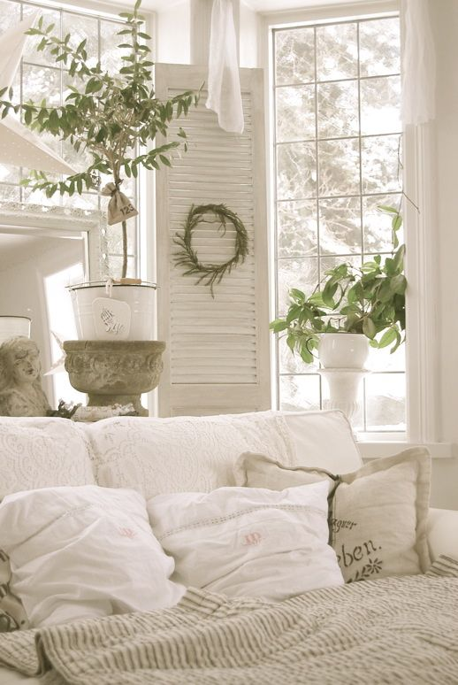 shutters and pillows...