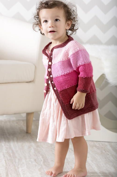 Ombre Cardigan ~ UPDATED FEB. 7, 2017 ~ finished size 12-24 mos. ~ FREE - KNIT
