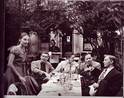 Portraits of the Artists - The New York Times   In the garden of the Cafe Nicholson restaurant where Edna Lewis was chef in 1949.  photo by Karl Bissinger