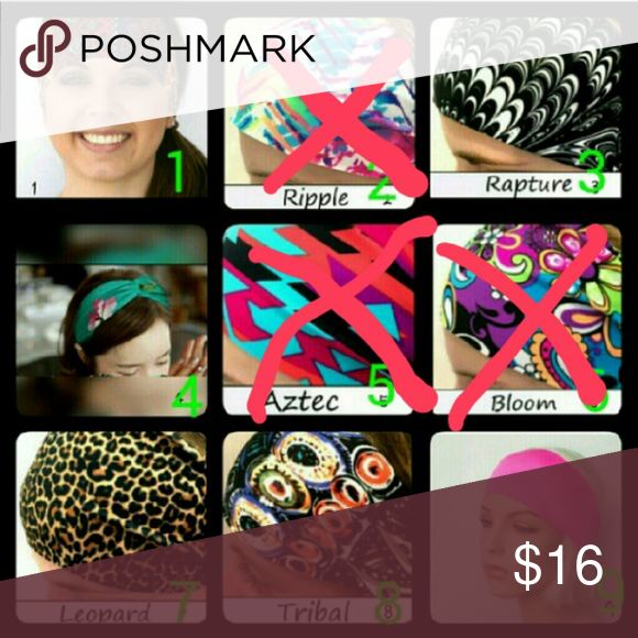 Mix & Match Spandex Headbands (Group 2) NWOT!  These stretchy headbands are perfect for sports, workouts, or just looking fabulous.  - Stretch to fit so 1 size fits most adults and youth - Approx. 4 inches wide in front & 1 inch in back  - Made from non-fraying, raw edge, single ply Spandex (EXCEPT FOR #4 which is a satin twisted knot!)  Buy 1/$4, 2/$6, 3/$9, 4/$11, 5/$13, 7/$15, 10/$20. Just tell me which ones you want & I'll make a listing! Combine other colors in any of the headband…