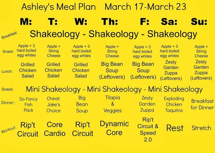 Focus T25 Meal Plan