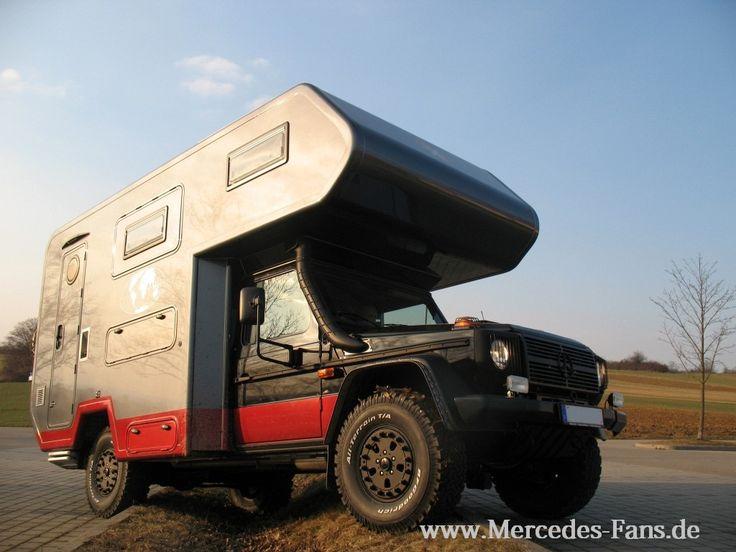 mercedes g wagen 4x4 overland camper camper motorhome rv furgo autocaravanas pinterest. Black Bedroom Furniture Sets. Home Design Ideas