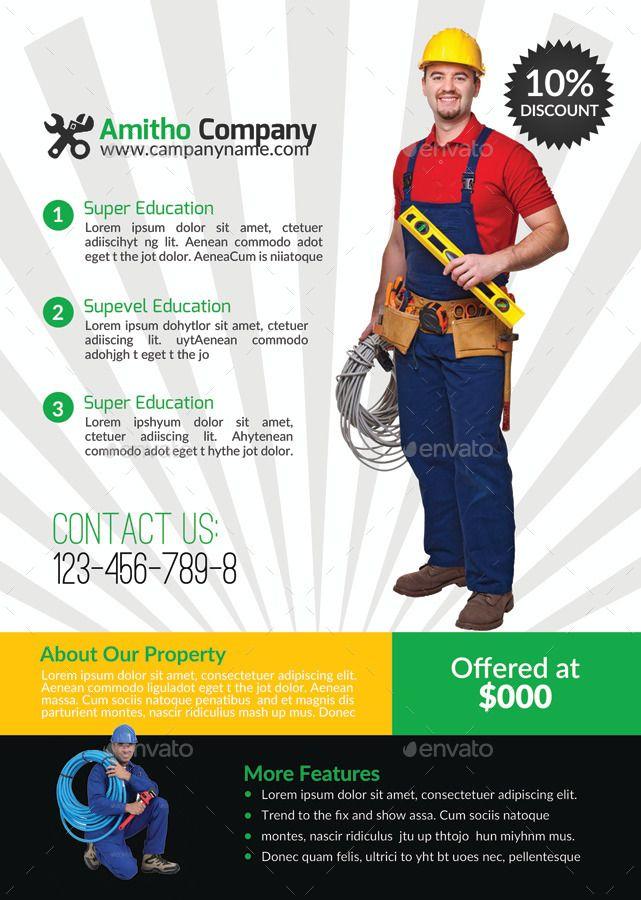 Handyman Plumber Services Flyer Bundle Plumber Amp Handyman