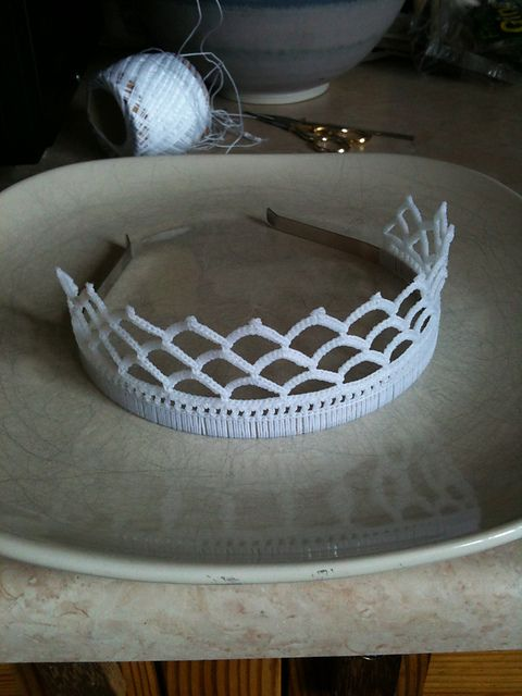 Ravelry: Simple Lace Tiara pattern by Hook Crochet  Seriously need to make this for my niece... one she finally can't break!!