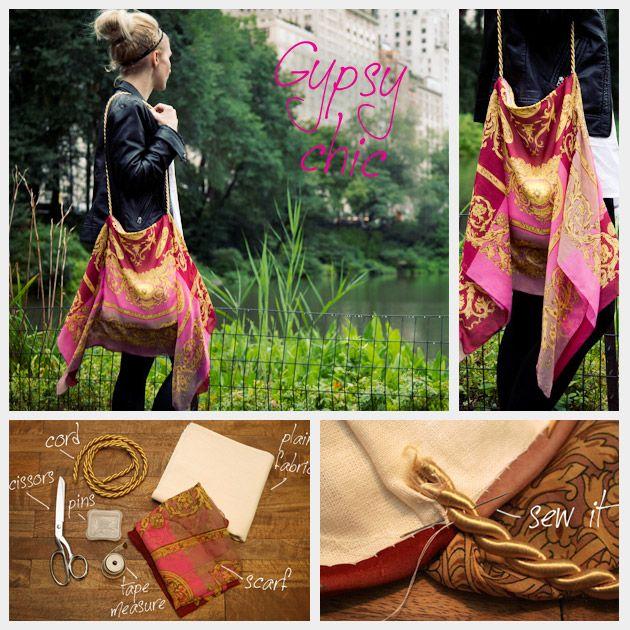 DIY: scarf bag