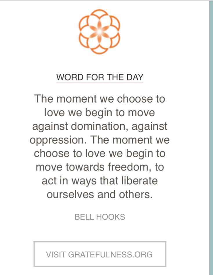 Love this Bell Hooks quote.