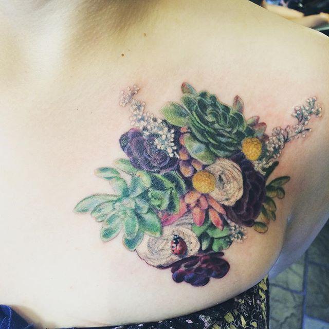 Succulent tattoo                                                       …