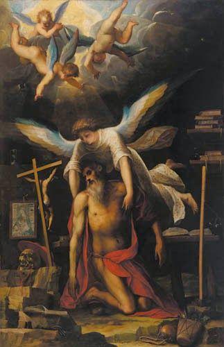 San Girolamo sorretto da un angelo (1593; Firenze, San Giovannino)