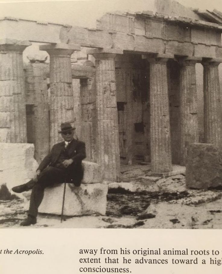 Carl Jung At the Acropolis in Athens.
