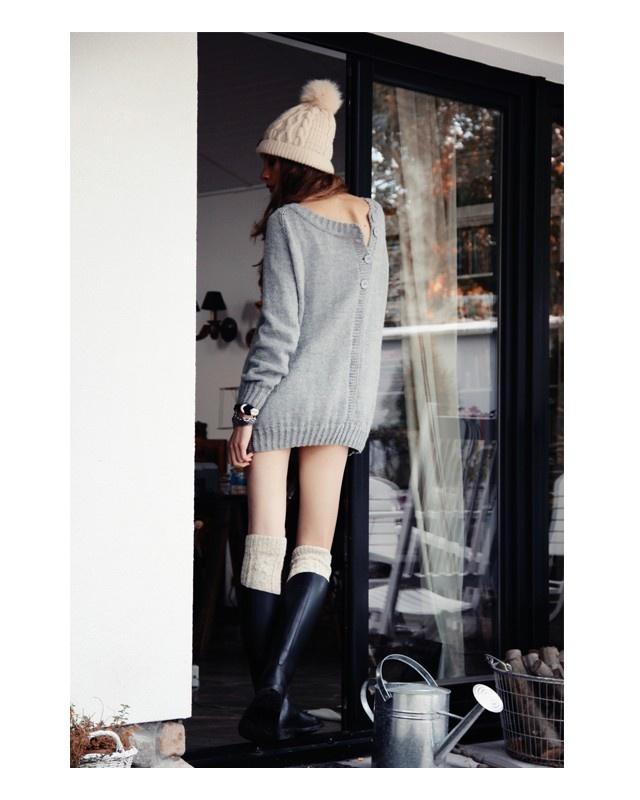 Oversized Long Sweater by Roboty Ręczne