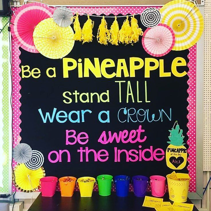"108 Likes, 3 Comments - Rainbow Sky Creations (@rainbowskycreations) on Instagram: ""Bulletin board envy! 💕🍍💕 regram @targetteachers 🌈"""