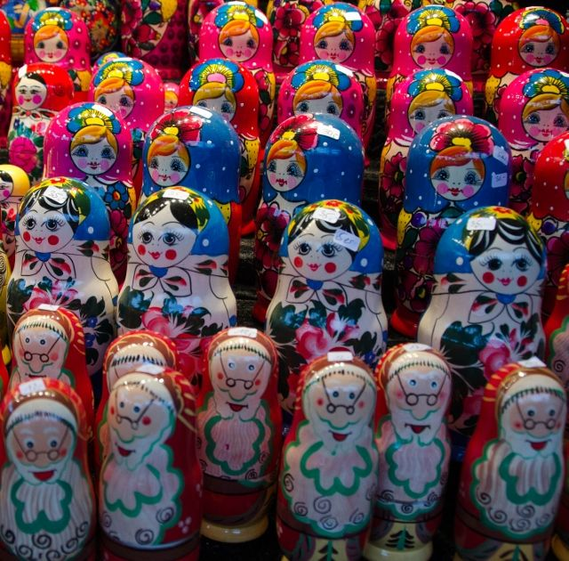 Grown-up Travel Guide Daily Photo: Festive Russian dolls, Hamburg, Germany