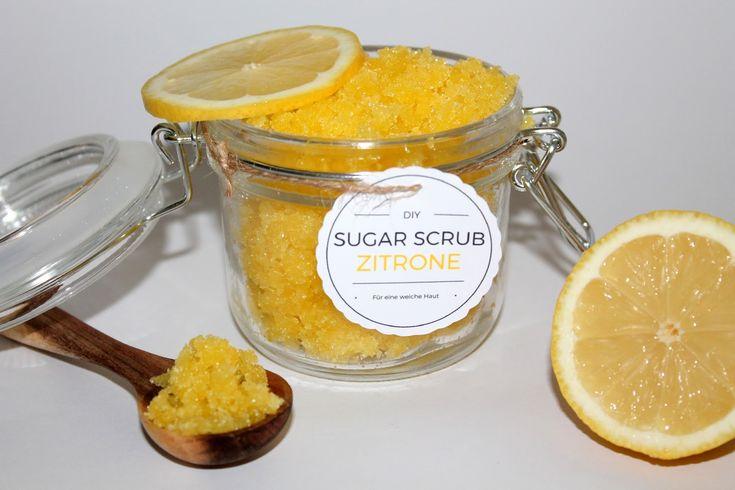 DIY Sugar Scrub / Zuckerpeeling Zitrone ganz einfach selber machen + Free Printable