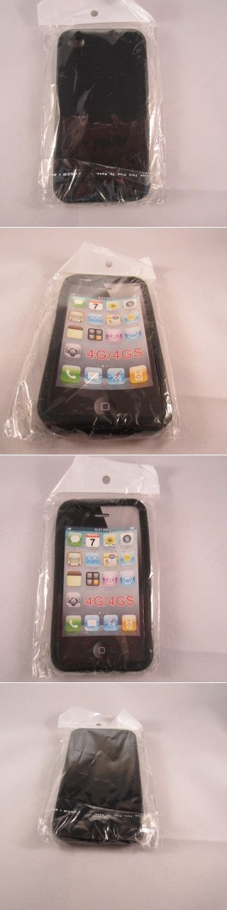Black Silicone iPhone 4G-4Gs Case