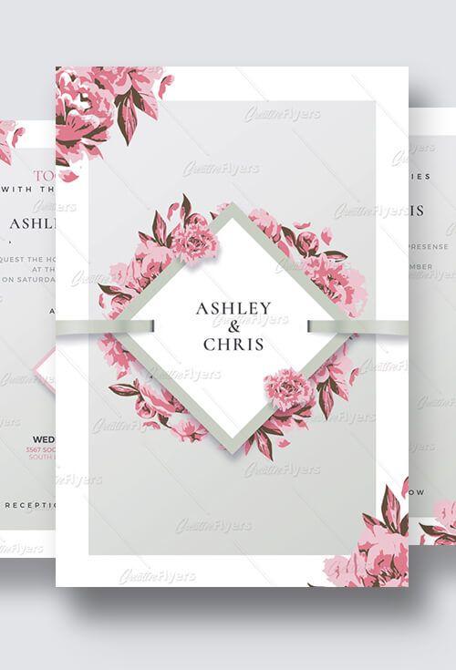 Wedding Invitation Psd Templates Creativeflyers Fun Wedding Invitations Creative Wedding Invitations Wedding Invitations