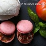 Macarons tomate-mozarella