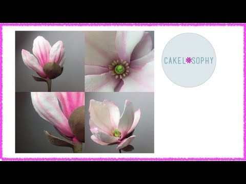 How to Make  Gumpaste Magnolia Flower (Easy with a right Tutorial! ) - YouTube