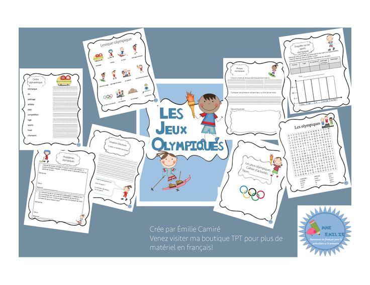 Cahier d'activités sur les jeux olympiques