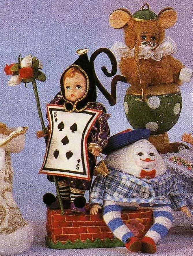 "Madame Alexander, Alice in Wonderland, 8"" Knave 13040 Humpty Dumpty 13060 Dormouse 13090"