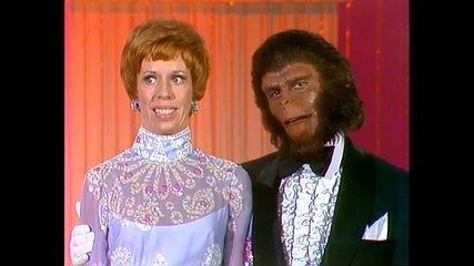 The Carol Burnett Show with Roddy McDowall wearing Planet of the Apes Makeup