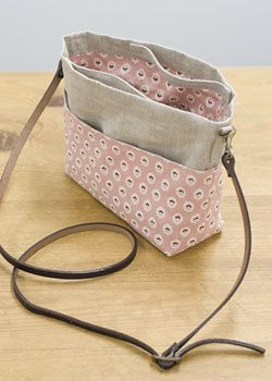 pattern - Reversible Bag in Bag with handles and pockets. really cute!